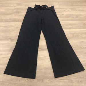 Vero Moda Linen Blend Wide Leg Tie Waist Size 38